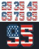 Placez les drapeaux des Etats-Unis de nombre, vecteur Images stock