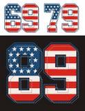 Placez les drapeaux des Etats-Unis de texture de nombre Illustration Stock