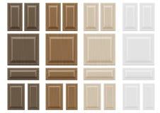 Placez les façades en bois de meubles de textures Image stock
