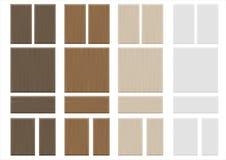 Placez les façades en bois de meubles de textures Photographie stock