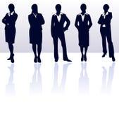 placez les femmes de silhouettes Photos stock