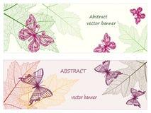 Placez les feuilles d'automne d'esprits de bannières Image libre de droits