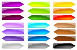 Placez les flèches colorées Photographie stock libre de droits