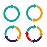 placez les flèches régénèrent le signe de boucle de rotation de recharge Photo stock