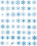 placez les flocons de neige Images stock