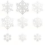 Placez les flocons de neige en verre Photo libre de droits