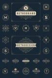 Placez les flourishes de luxe de calibre de logos calligraphiques illustration stock