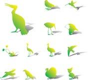 Placez les graphismes - 116A. Oiseaux illustration de vecteur