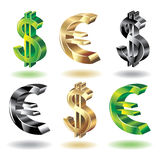 Placez les graphismes d'argent. Image stock