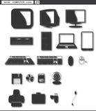 Placez les graphismes de Web rétro ordinateur de rétro moniteur Photo stock