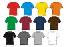 Placez les hommes de T-shirt colorés Image libre de droits