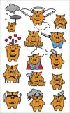 Placez les icônes de la tirelire de porc dans différentes situations Photographie stock libre de droits