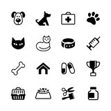 Placez les icônes - animaux familiers, clinique de vétérinaire, médecine vétérinaire Photo stock