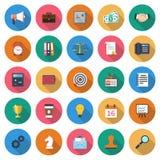 Placez les icônes d'affaires Images stock
