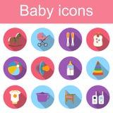 Placez les icônes de bébé Images libres de droits