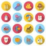 Placez les icônes de bébé Photo libre de droits