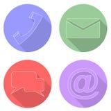 Placez les icônes de communication Photo libre de droits