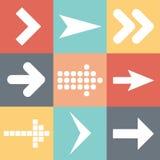 Placez les icônes de flèche, les éléments plats de web design d'UI tendent, dirigent l'illustration Photos libres de droits