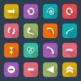 Placez les icônes de flèche, tendance plate de conception d'UI, illustration de vecteur des éléments de web design Illustration Stock