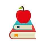 placez les icônes de fournitures scolaires Image stock
