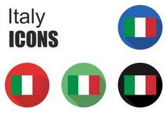 Placez les icônes de l'Italie Photographie stock