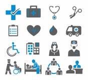 Placez les icônes de médecine Photos libres de droits