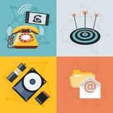 Placez les icônes pour le Web et les applications mobiles Photos libres de droits