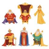 Placez les illustrations du roi dans le style de bande dessinée illustration de vecteur
