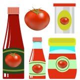 Placez les ketchups de tomate d'opf illustration de vecteur
