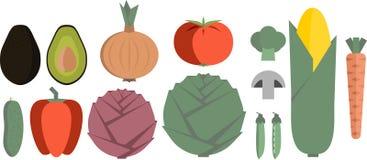 placez les légumes Photos stock