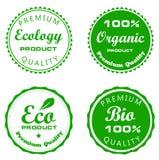 Placez les labels de vecteur de l'écologie Image stock