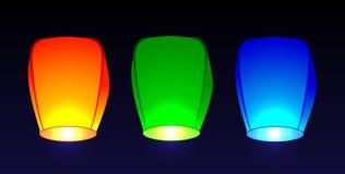 Placez les lampes-torches d'air Image libre de droits