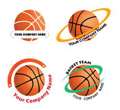 Placez les logos d'équipe de basket Photographie stock libre de droits