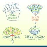 Placez les logos de vecteur pour le salon de beauté Photos libres de droits