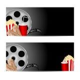 Placez les milieux pour le cinéma Photo stock