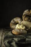Placez les pains de village photographie stock