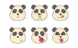 Placez les pandas de smiley Photographie stock libre de droits