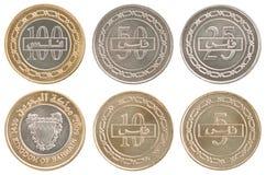 Placez les pièces de monnaie Bahrain Image stock