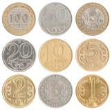Placez les pièces de monnaie de Kazakhstan Image stock