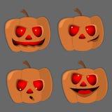 Placez les potirons pour le vecteur différent de caractères de Halloween Photos libres de droits