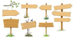 placez les signes en bois Images stock