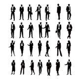 Placez les silhouettes d'affaires Photo libre de droits