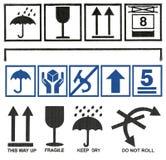 Placez les symboles de boîte en carton Photographie stock