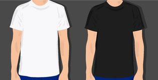 Placez les T-shirts masculins Photographie stock