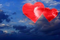 Placez les valentines fond, coeur, amour de Saint Valentin Photos libres de droits