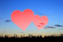 Placez les valentines fond, coeur, amour de Saint Valentin Images stock