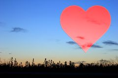 Placez les valentines fond, coeur, amour de Saint Valentin Image libre de droits