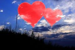 Placez les valentines fond, coeur, amour de Saint Valentin Photos stock
