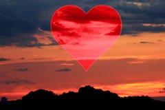 Placez les valentines fond, coeur, amour de Saint Valentin Images libres de droits