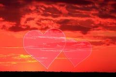 Placez les valentines fond, coeur, amour de Saint Valentin Photographie stock